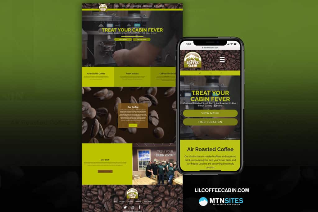LilCoffeeCabin.com - Coffee Shop Mtn Site for Lil Coffee Cabin 10
