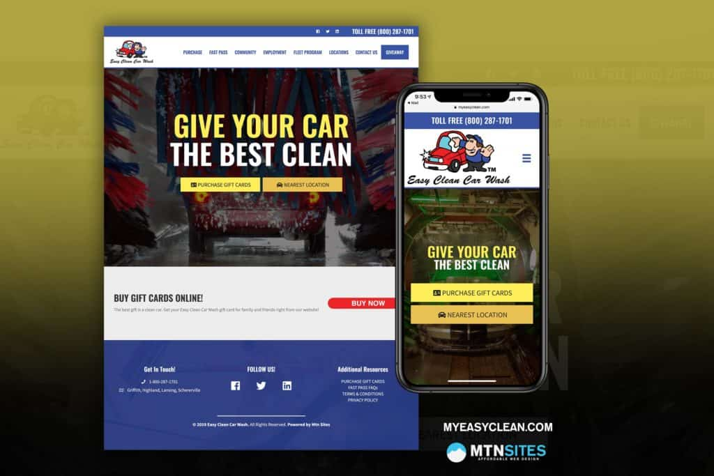 MyEasyClean.com - Car Wash Mtn Site for Easy Clean Car Wash 2
